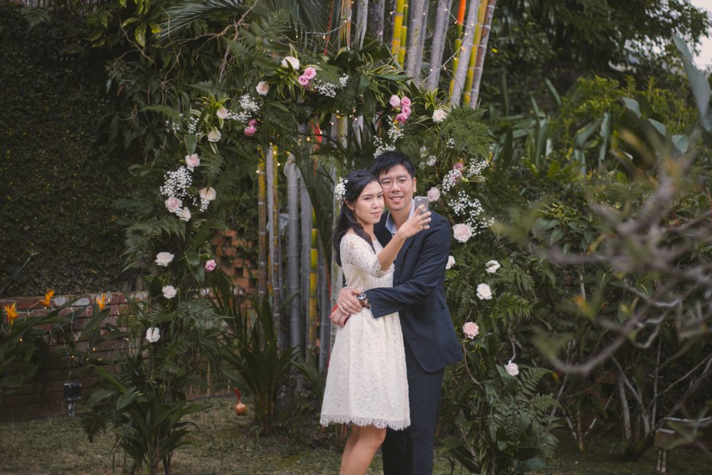 garden rustic wedding