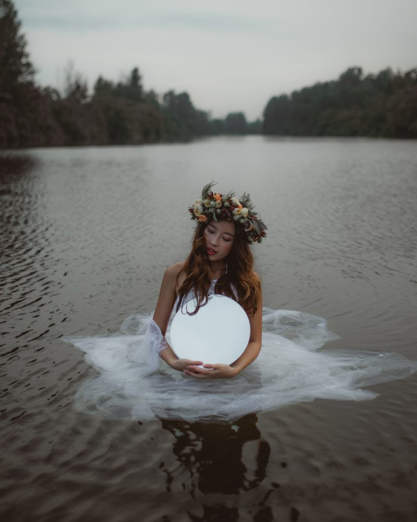 ethereal waters bridal photoshoot