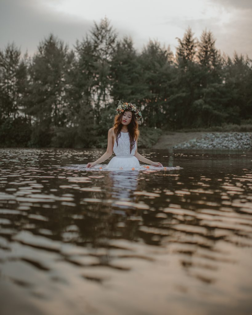 ethereal waters bridal photoshoot