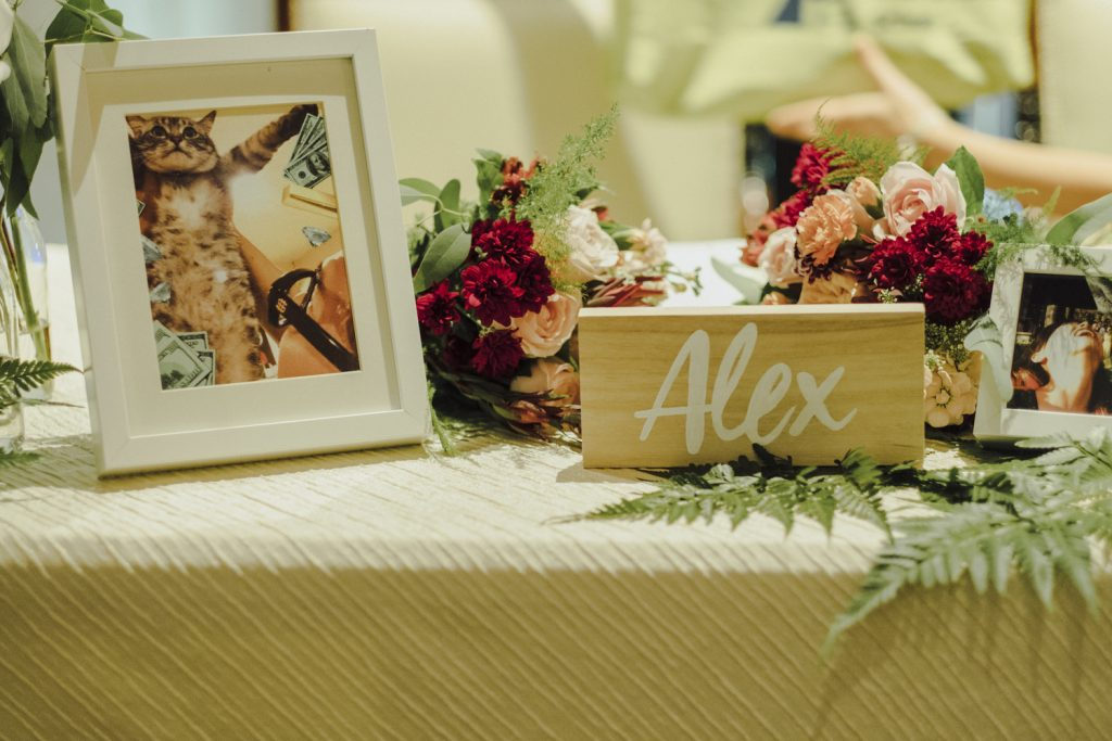 CORAL+MAROON WEDDING