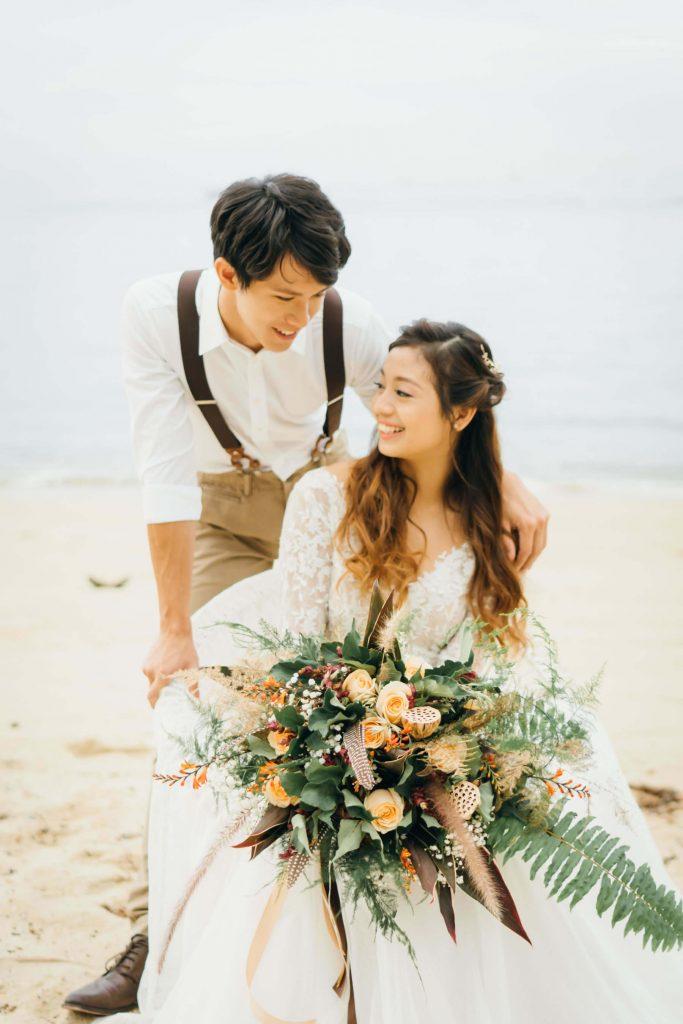 Bohemian Beach Wedding Styled Shoot