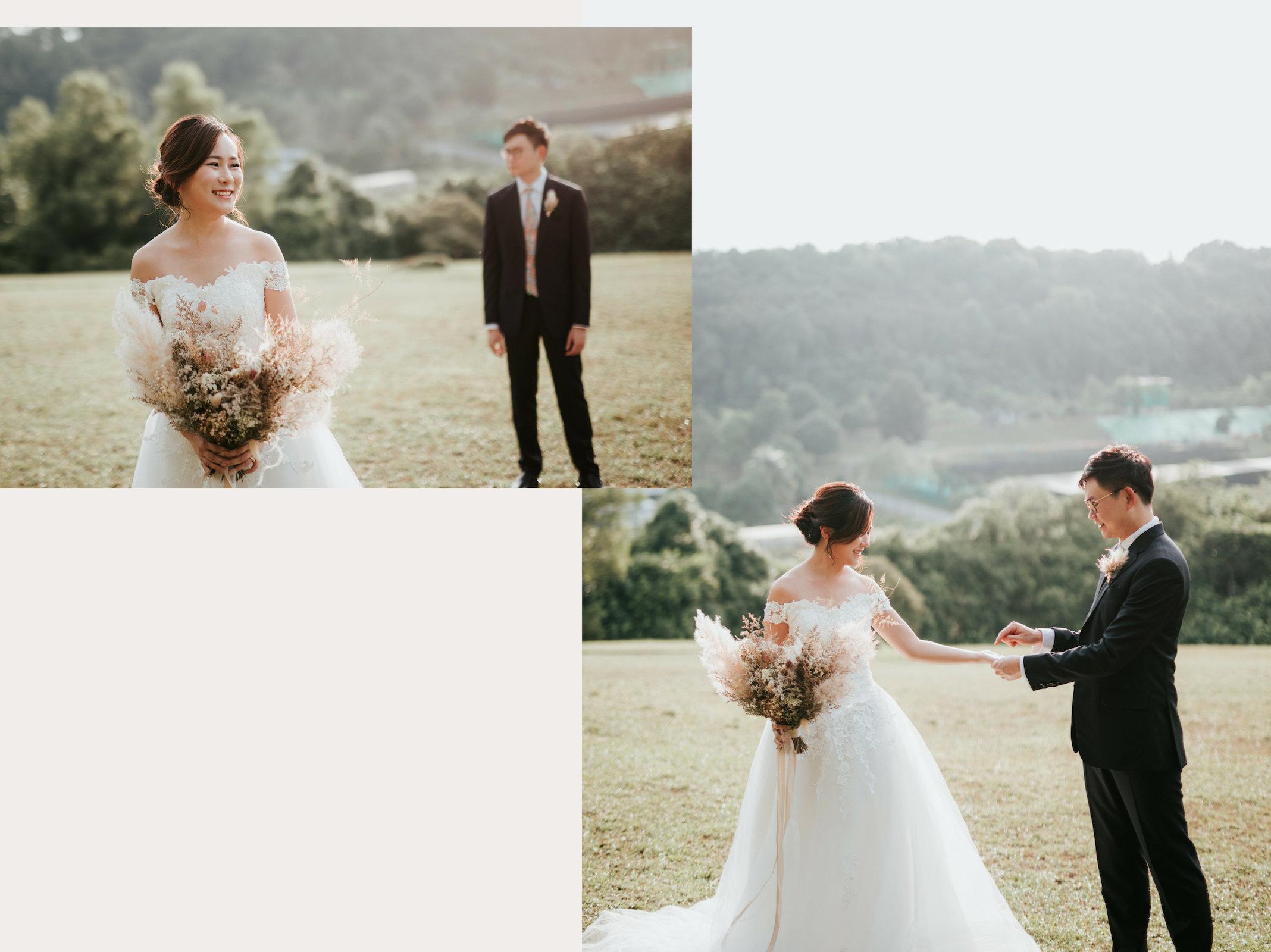 dried bridal bouquet
