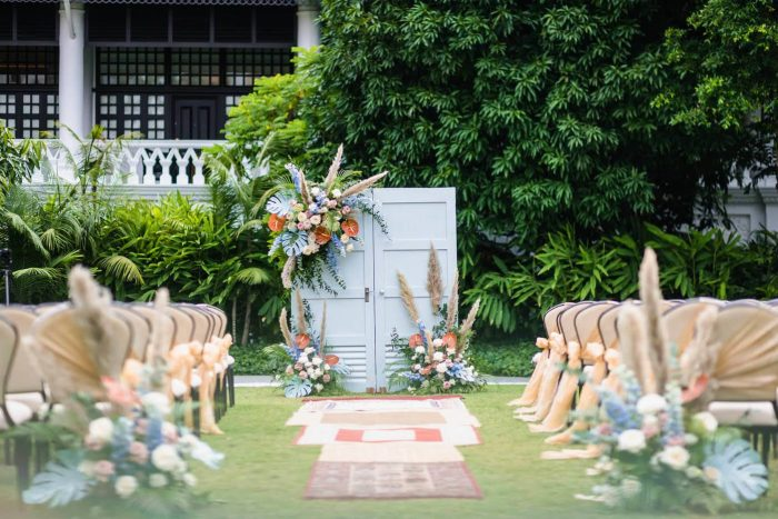 raffles hotel wedding gathered and styled