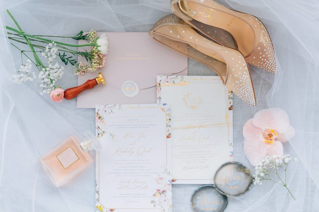 romantic contemporary wedding